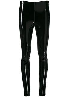 Karl Lagerfeld varnished finish leggings