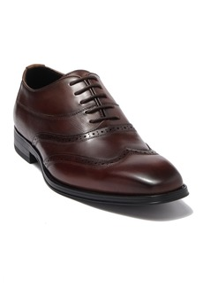 Karl Lagerfeld Wingtip Leather Lace-Up Oxford