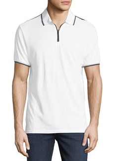 Karl Lagerfeld Zip-Front Jersey Polo