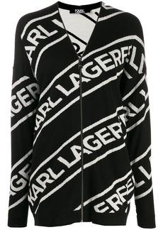 Karl Lagerfeld zip logo cardigan