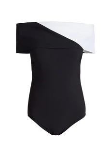 Karla Colletto Aidan Off-The-Shoulder Swimsuit