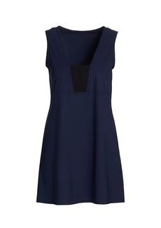 Karla Colletto Aidan V-Neck Mini Cover-Up Dress