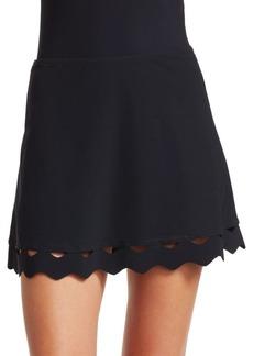 Karla Colletto Havana A-Line Mini Skirt