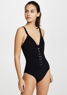 Karla Colletto Lace Up One Piece