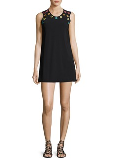 Karla Colletto Prisma Round-Neck Coverup Mini Dress