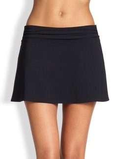 Karla Colletto Ruched Waistband Skirt