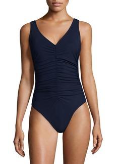 Karla Colletto V-Neck Underwire Swimsuit