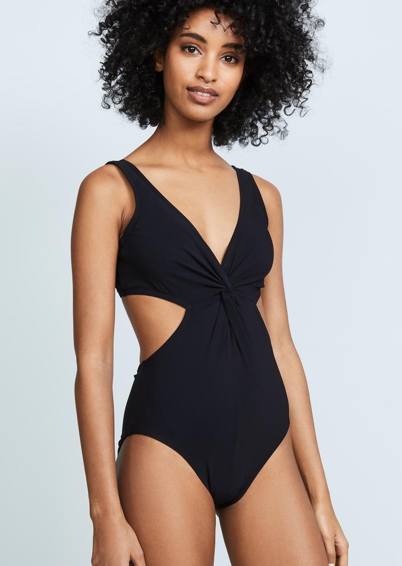 50ac40d9b0f01 Karla Colletto Karla Colletto V Neck Underwire Swimsuit   Swimwear