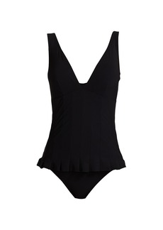 Karla Colletto Lana V-Neck One-Piece Swimdress