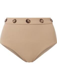 Karla Colletto Lauren Button-embellished Bikini Briefs