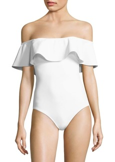 Karla Colletto One-Piece Ruffle Swimsuit