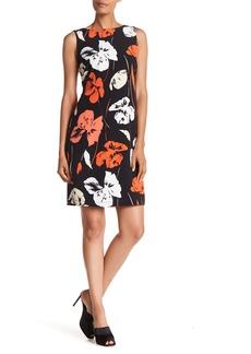 Kasper Floral Print Sheath Dress