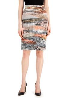 Kasper Abstract Textured Pencil Skirt
