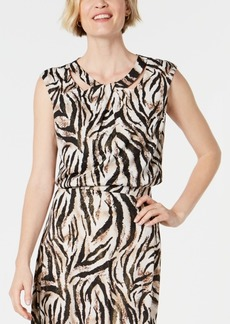 Kasper Petite Animal-Print Sleeveless Top