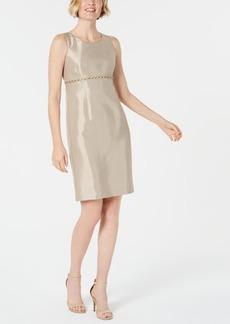 Kasper Beaded Sheath Dress