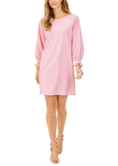 Kasper Blouson-Sleeve Shift Dress