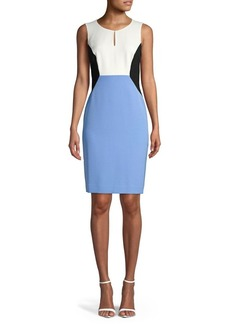 Kasper Colorblock Sheath Dress