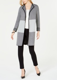 Kasper Colorblocked Roll-Cuff Jacket