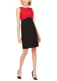 Kasper Colorblocked Sheath Dress