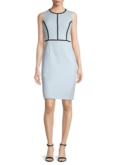 Kasper Contrast Sheath Dress