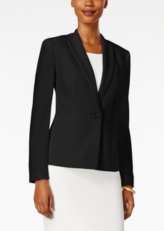 Kasper Crepe One-Button Jacket