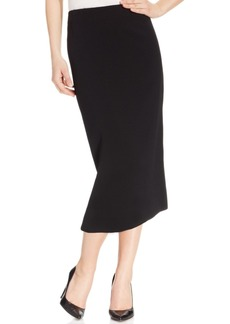 Kasper Crepe Pencil Midi Skirt