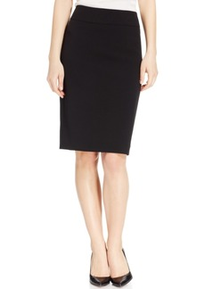 Kasper Crepe Slim Yoke Skirt, Regular & Petite