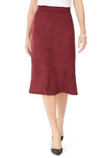 Kasper Faux-Suede A-Line Skirt