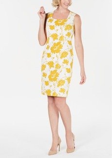 Kasper Floral-Print Sheath Dress