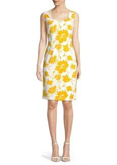 Kasper Floral Sleeveless Sheath Dress