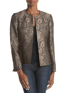 Kasper Goldtone Embossed Jacket