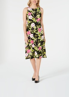 Kasper Hibiscus Dress