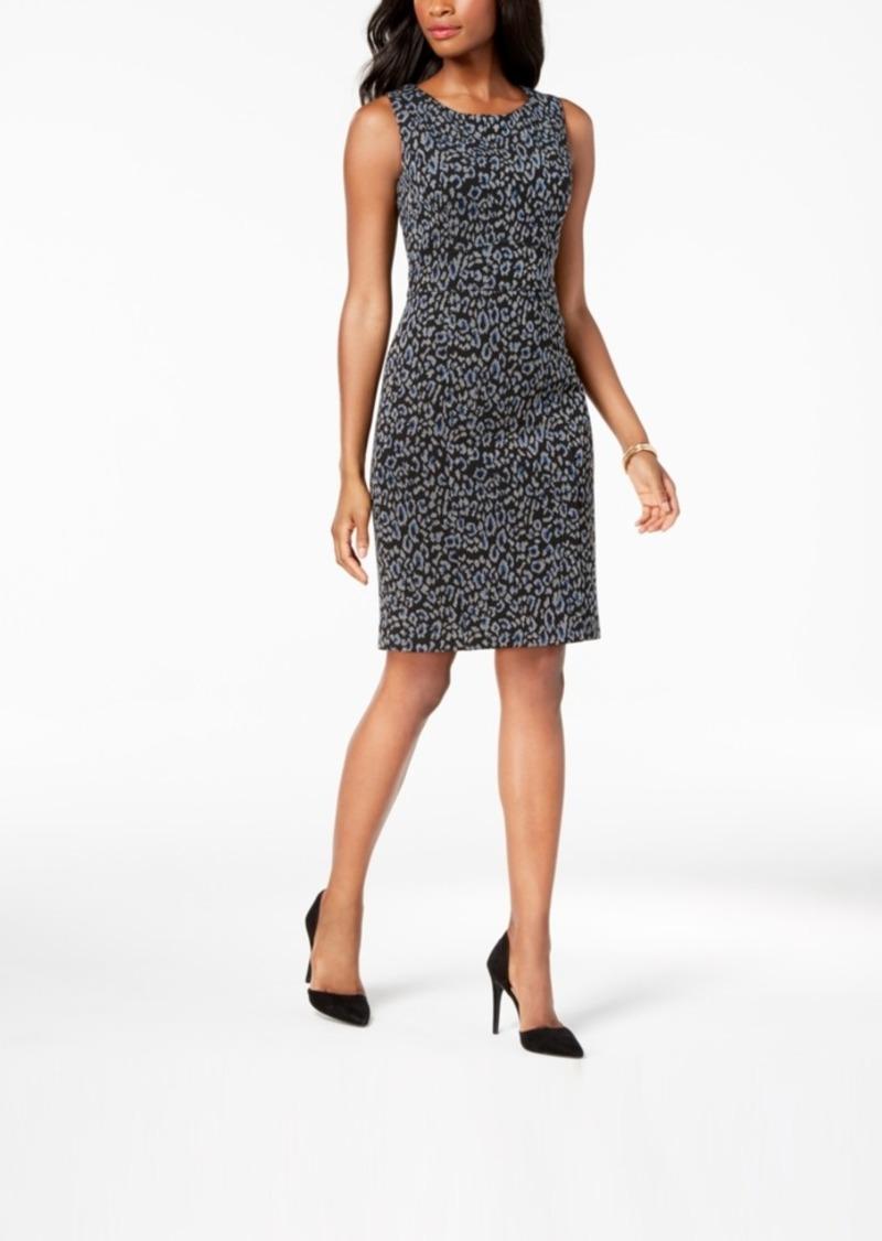 93ebd546 Kasper Kasper Jacquard Animal-Print Sheath Dress   Dresses
