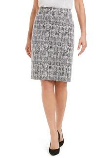 Kasper Jacquard Pencil Skirt