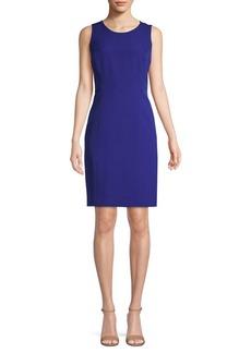 Kasper Jewel-Neck Sheath Dress