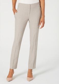Kasper Melange Straight-Leg Pants