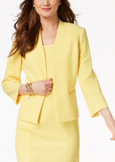 Kasper Textured Collarless Blazer, Regular & Petite