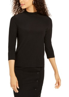Kasper Mock-Neck Top
