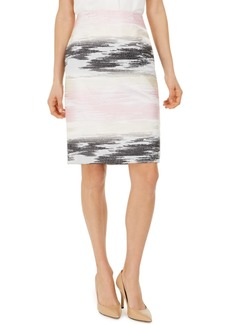 Kasper Ombre Jacquard Pencil Skirt