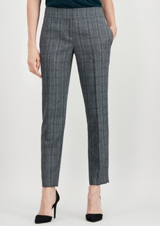 Kasper Plaid Straight-Leg Pants