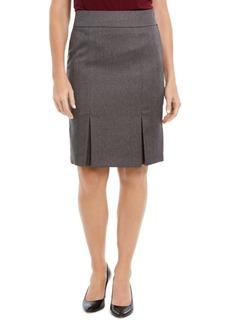 Kasper Pleated Pencil Skirt