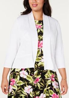 Kasper Plus Size 3/4-Sleeve Cardigan