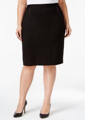 Kasper Plus Size Compression Pencil Skirt
