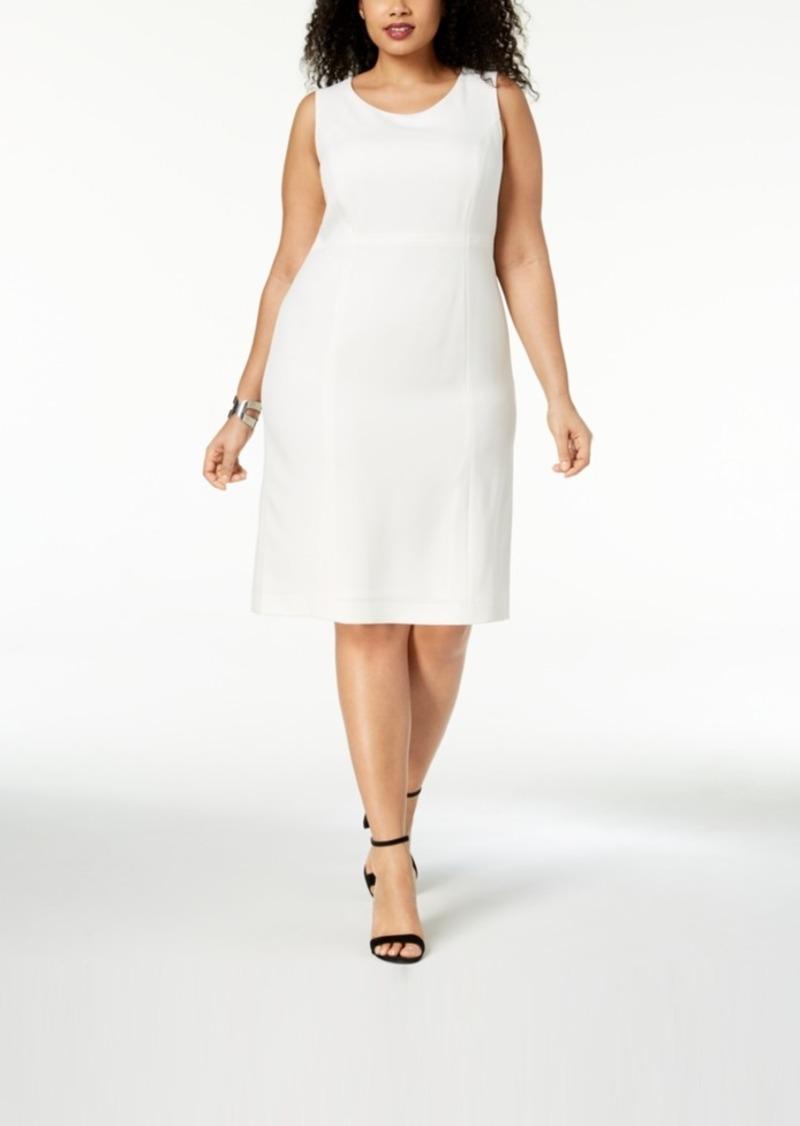 c03c068e17 Kasper Kasper Plus Size Crepe Sheath Dress