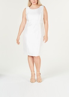 Kasper Plus Size Embellished Sheath Dress