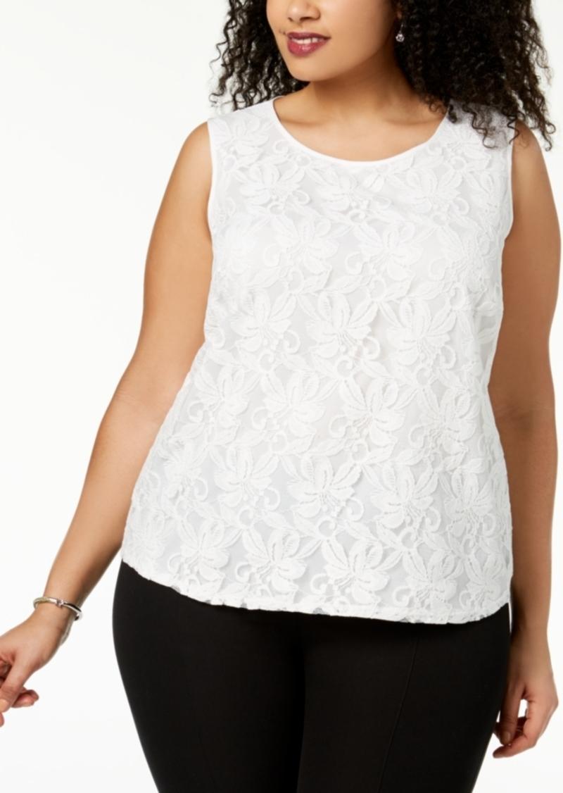 Kasper Plus Size Lace Top