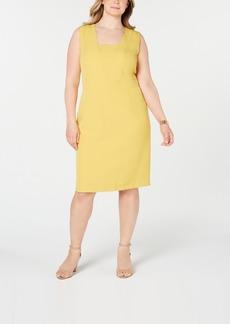 Kasper Plus Size Modified Square-Neck Dress
