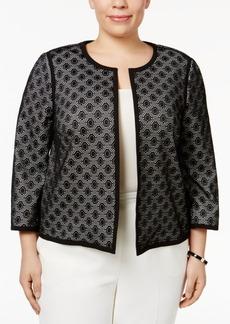 Kasper Plus Size Open-Front Lace Blazer