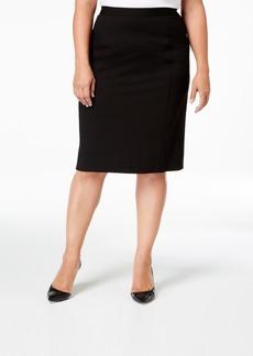 Kasper Plus Size Pencil Skirt