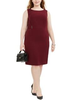 Kasper Plus Size Side-Hardware Sheath Dress
